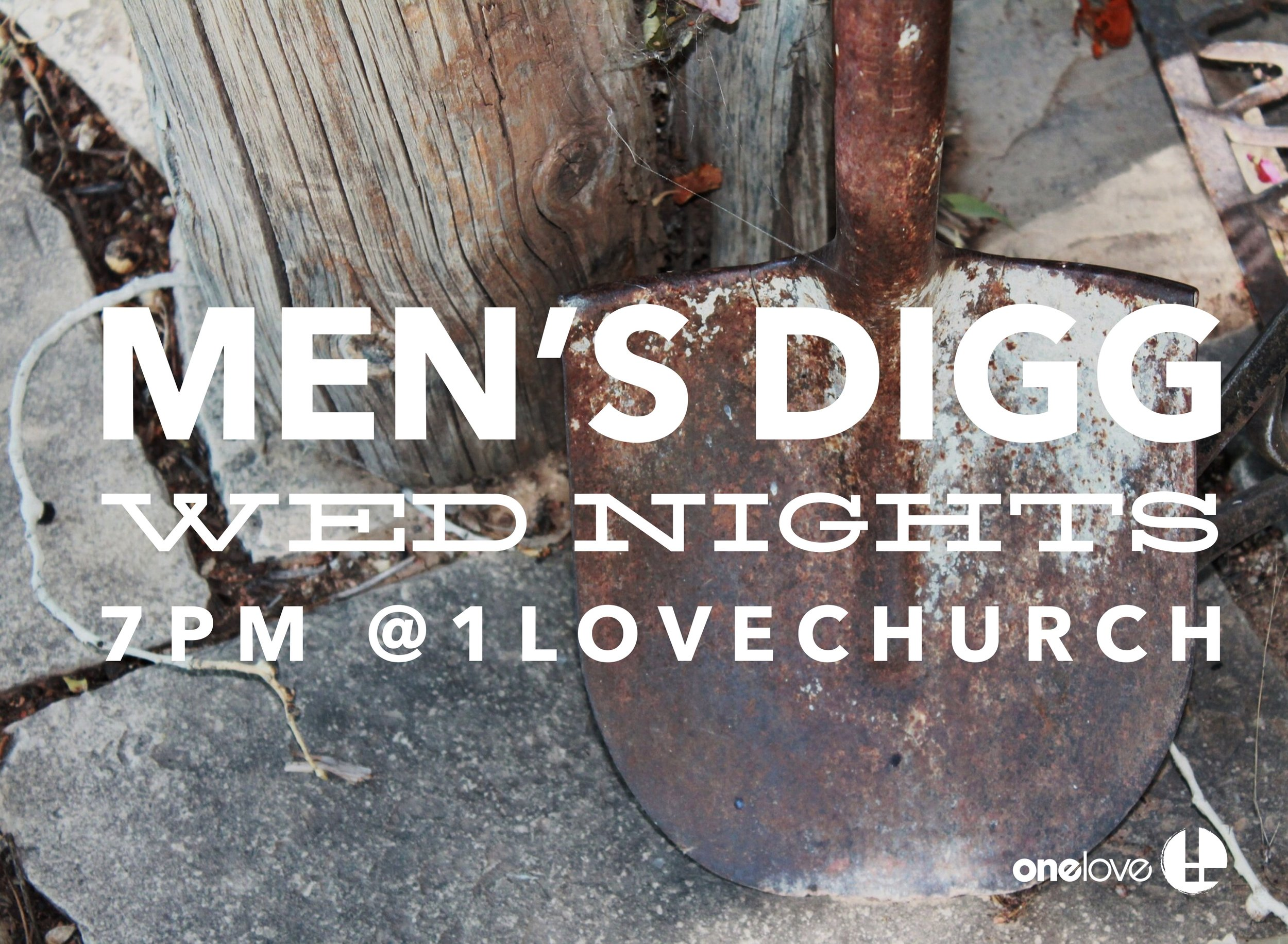 We meet every Wednesday at 7pm at One Love Church -