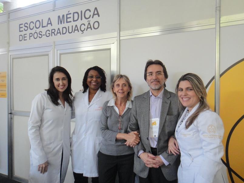 Dra. Fernanda Brandão, Dra. Caroline Cysne, Profa. Teresa Seiler, Prof. Roberto Lourenço e Dra. Fernanda Paz