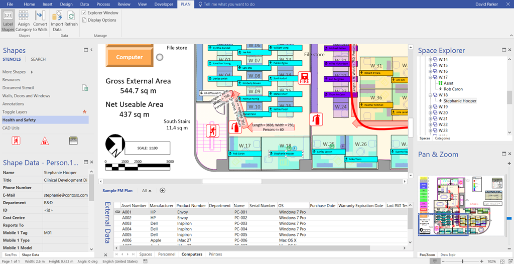 A fantastic way to avoid rework and keep models current: Visio Pro Data tabs.