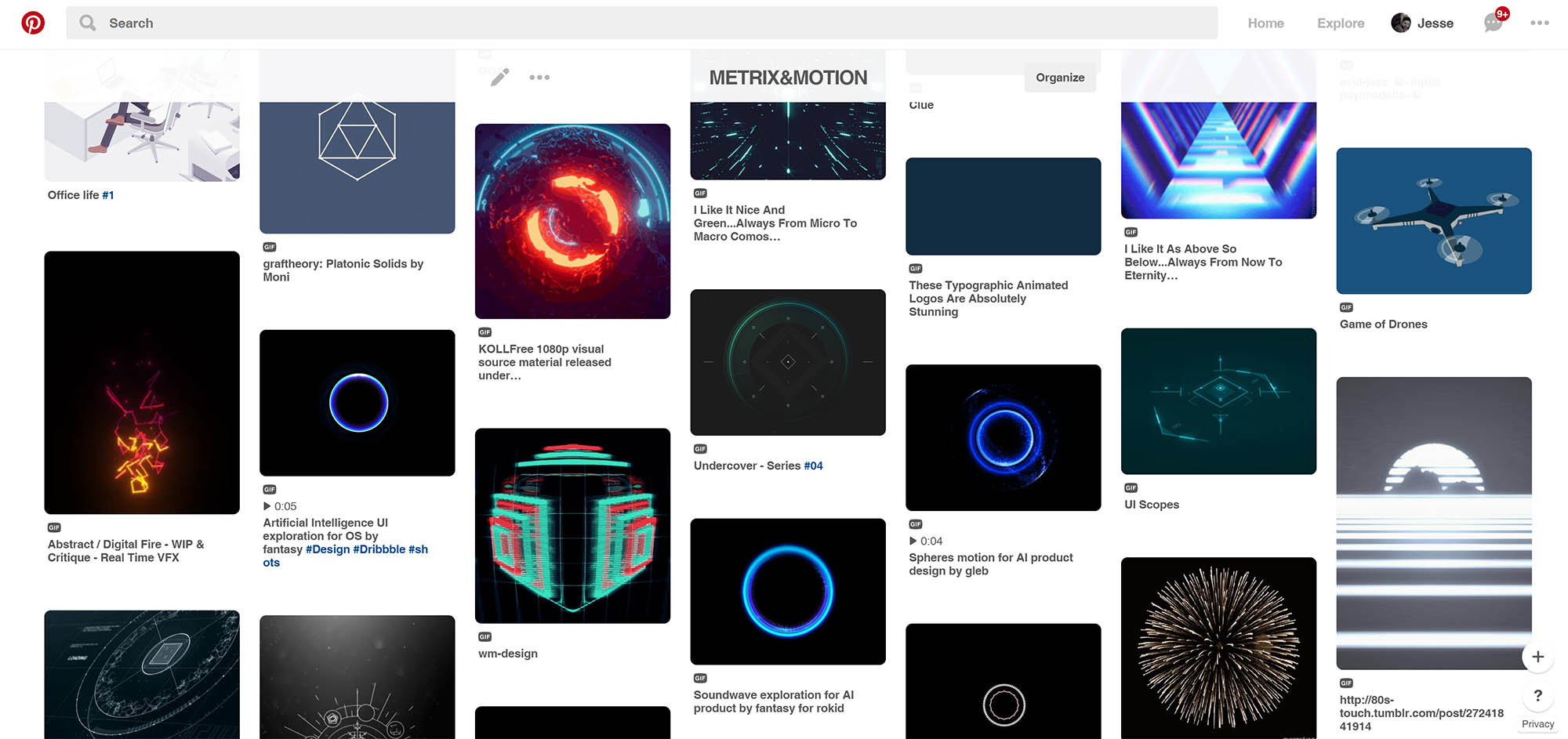 My Pinterest board for useful or captivating animated gif's (click through to open)