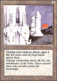 'sacrifice power for knowledge' is an interesting description on this Magic the Gathering card :)