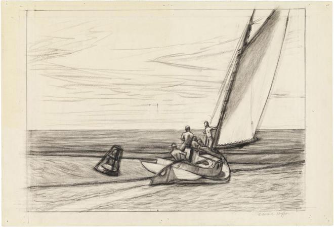 Edward Hopper, Study for Ground Swell, medium (18.9 x 26 in.)print.