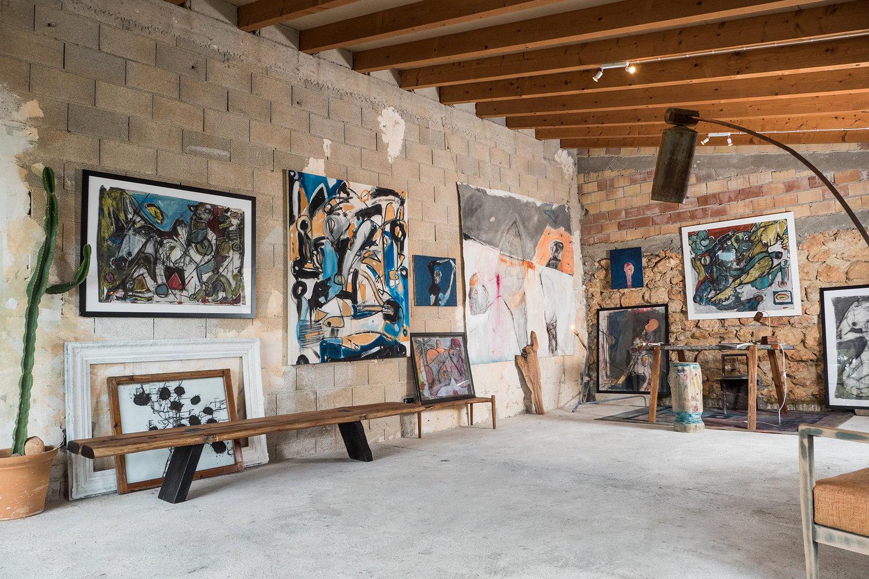 Inside Grason Ratowsky's Studio,Mallorca, Spain.