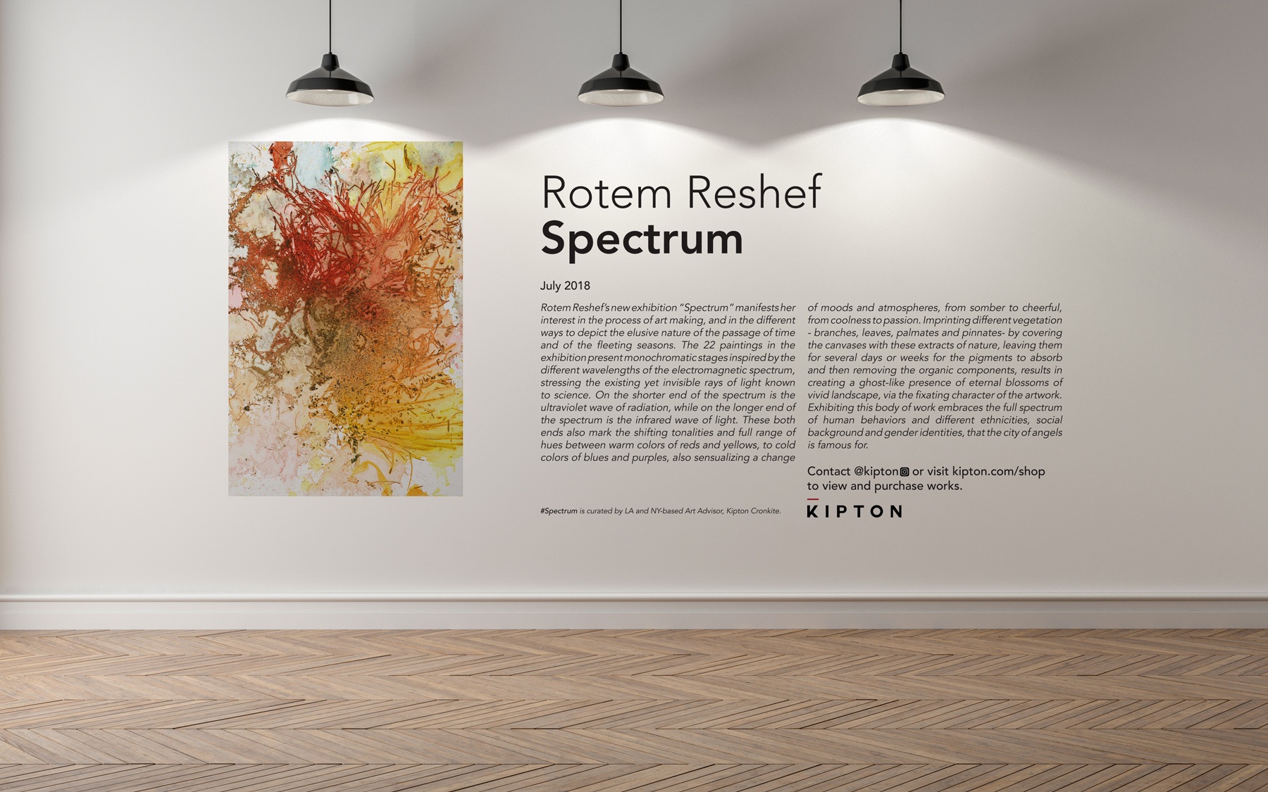 """"""" Spectrum """" is a series of 22 paintings created for Soho House West Hollywood (July 1 - 30, 2018)"""