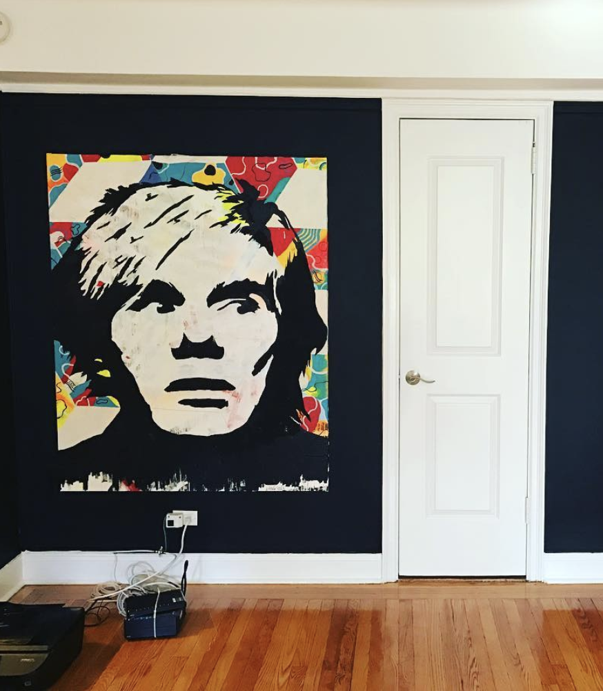 ThankYouX painting of Andy Warhol