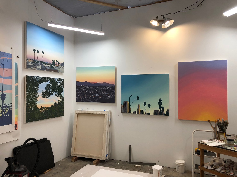 Inside Lindsey Warren's L.A. studio, 2019