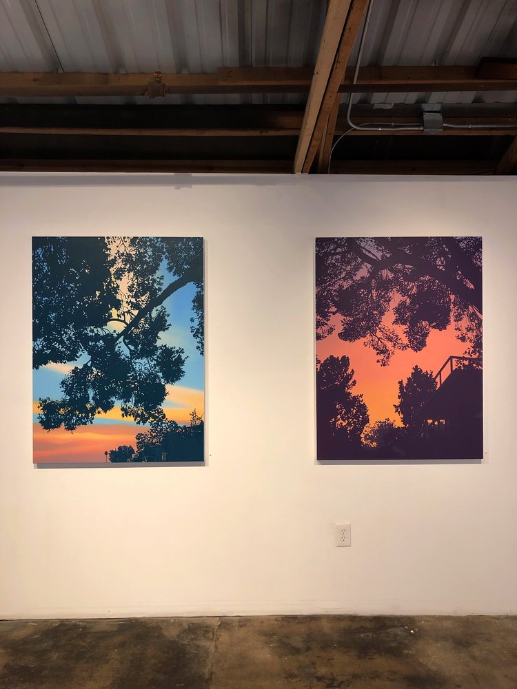 """'Front Yard' and 'Back Yard' - oil on canvas, 48""""x36"""""""