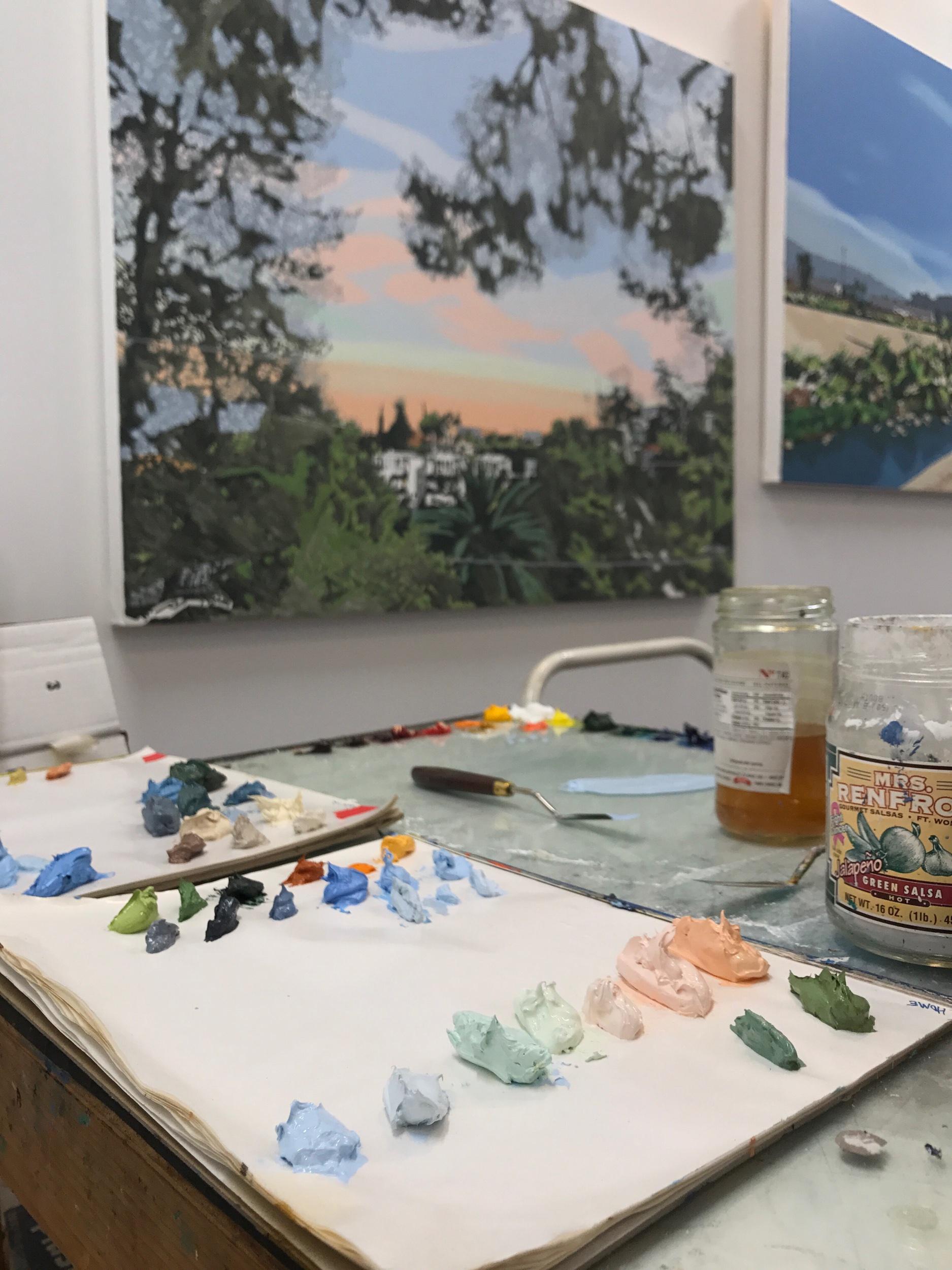 Behind the scenes in Warren's L.A. studio, 2019