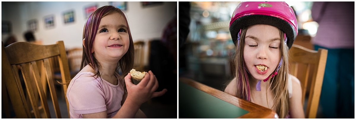 These goofy little girls! Hanging out at  the Gumboot Cafe  in Robert's Creek!