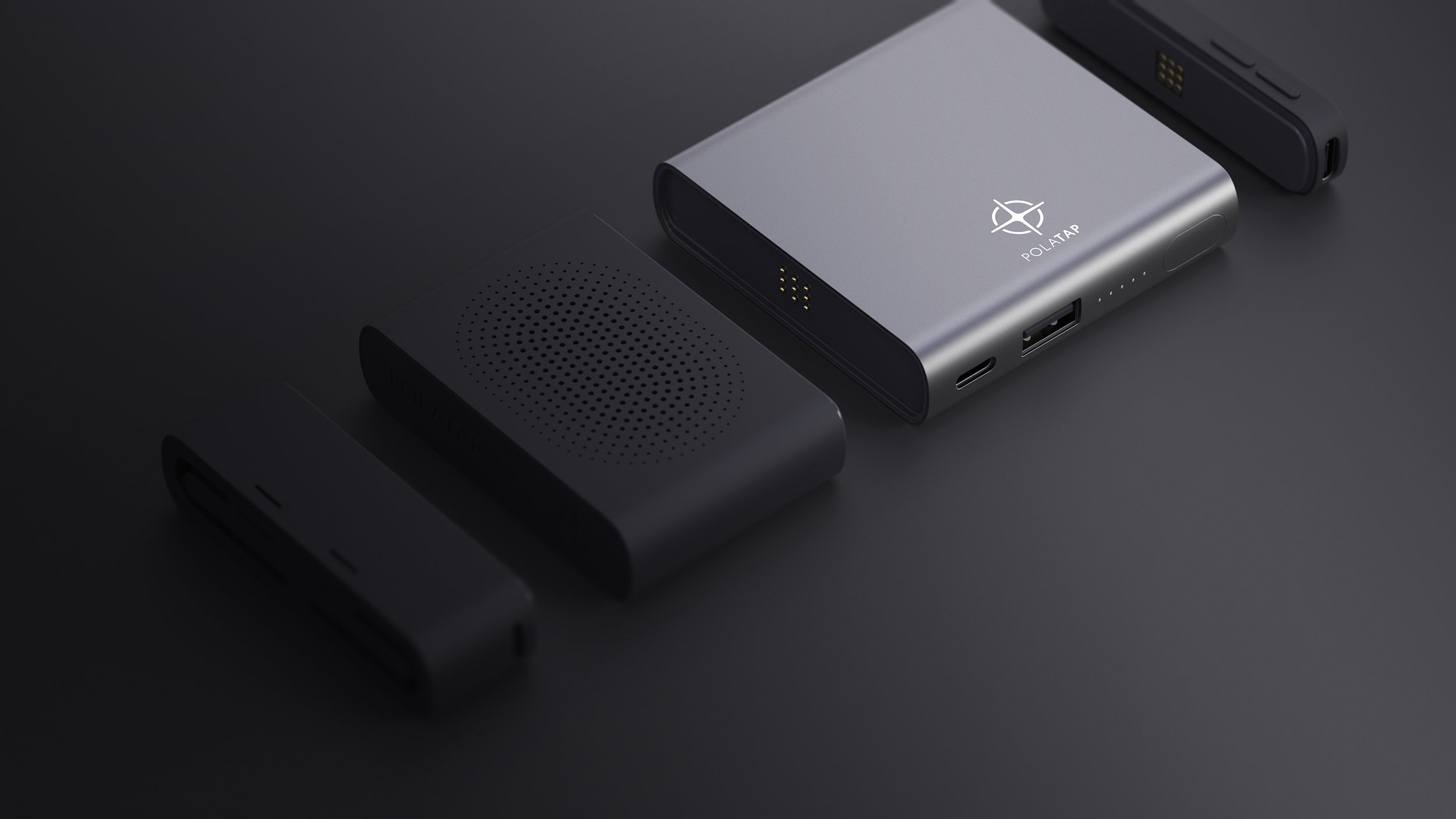 Charge HUB has two magnetic charging slots that could charge two modules simultaneously.