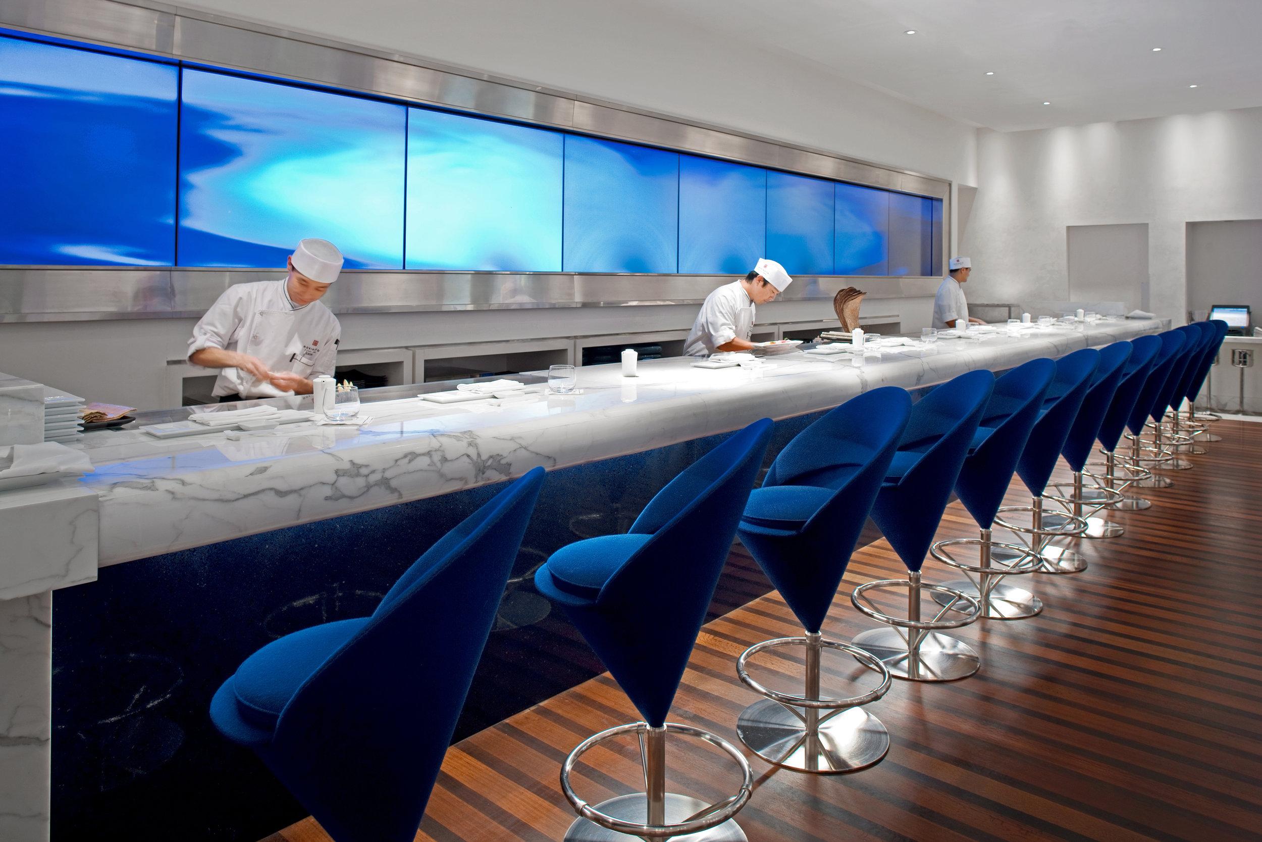 Morimoto Sushi Bar in the Boca Raton Resort & Club for Chef Masaharu Morimoto