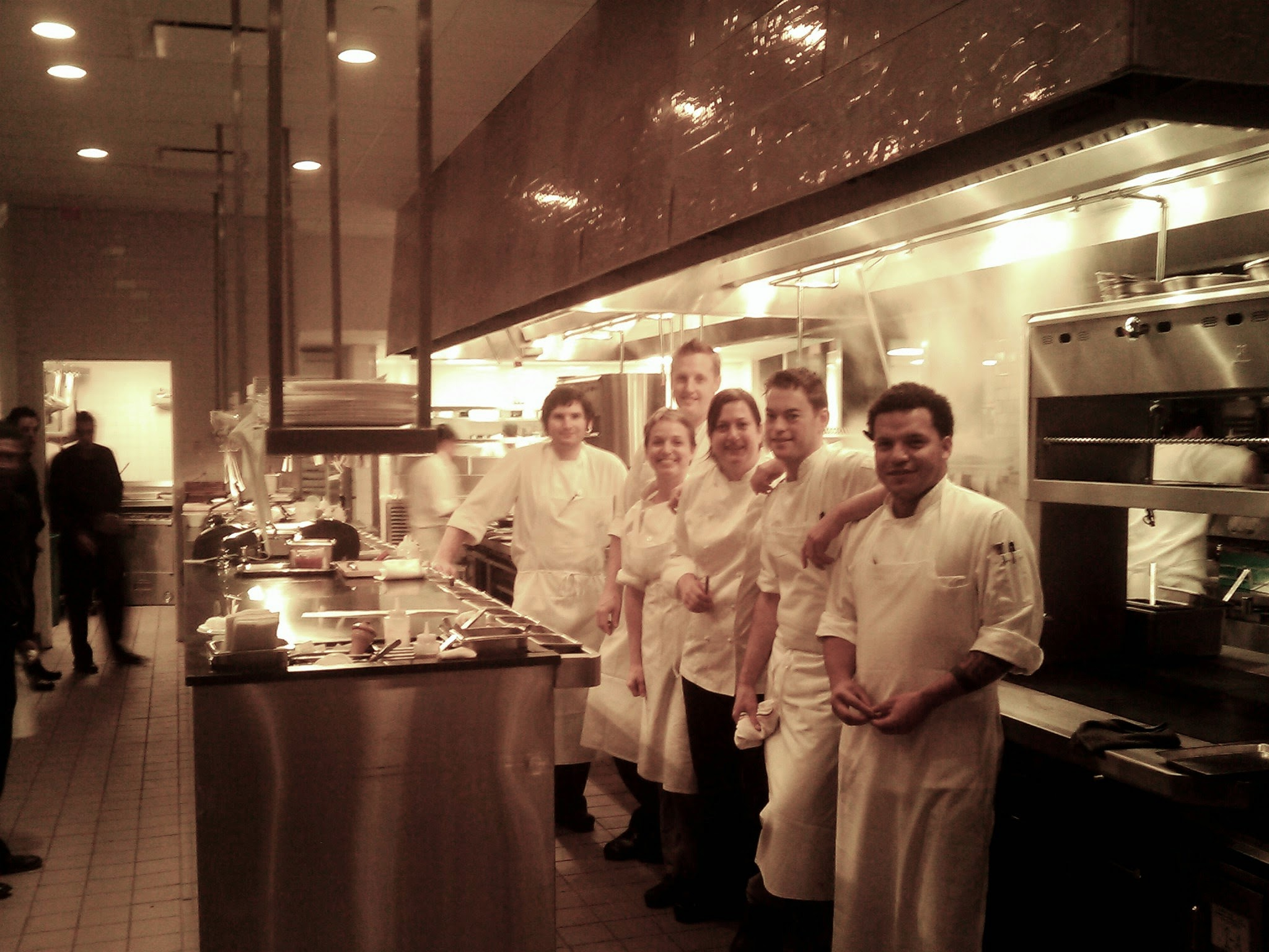 Chef Missy Robbins and team at A Voce