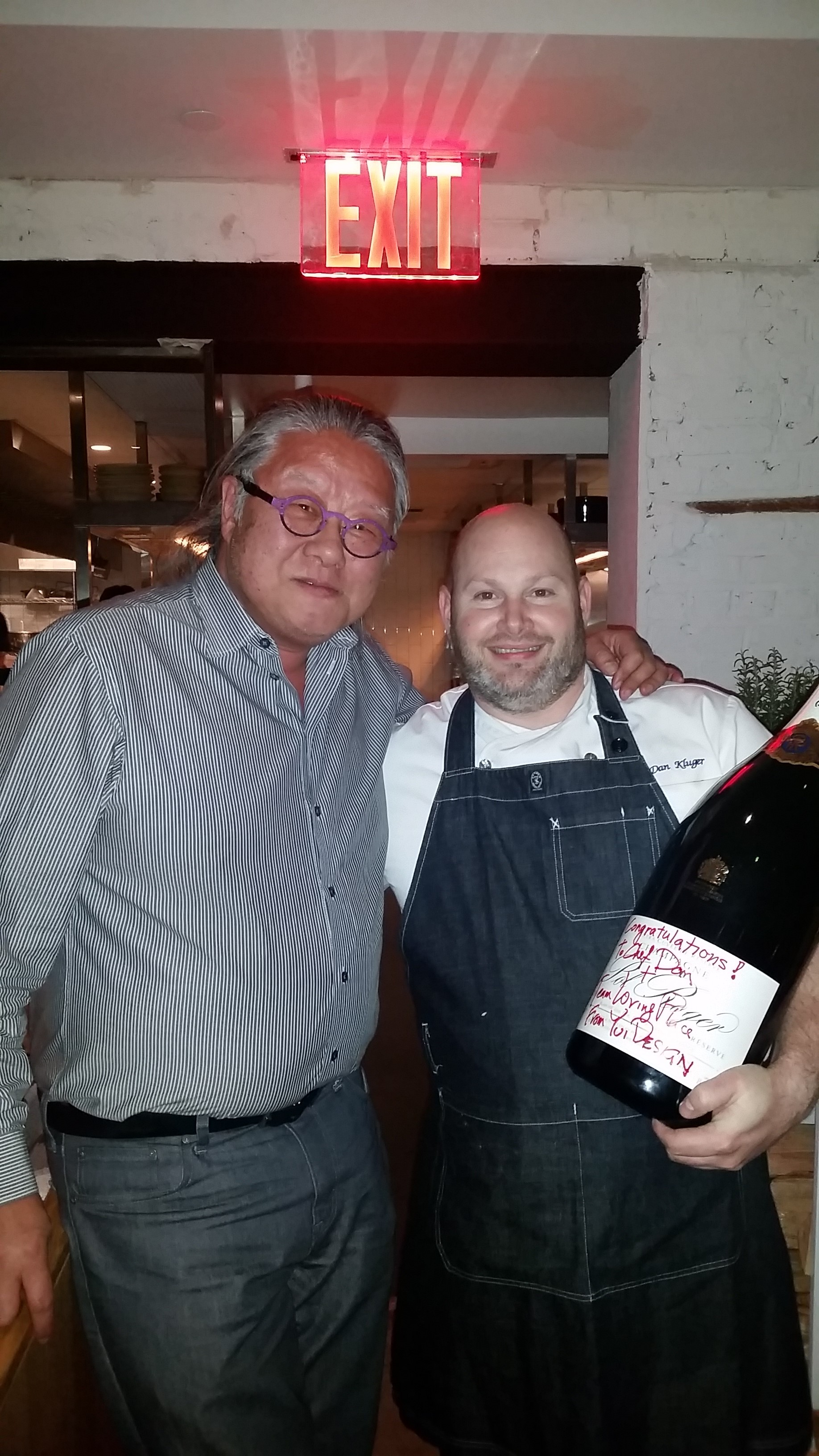 Chef Dan Kluger with Jimi at Loring Place opening