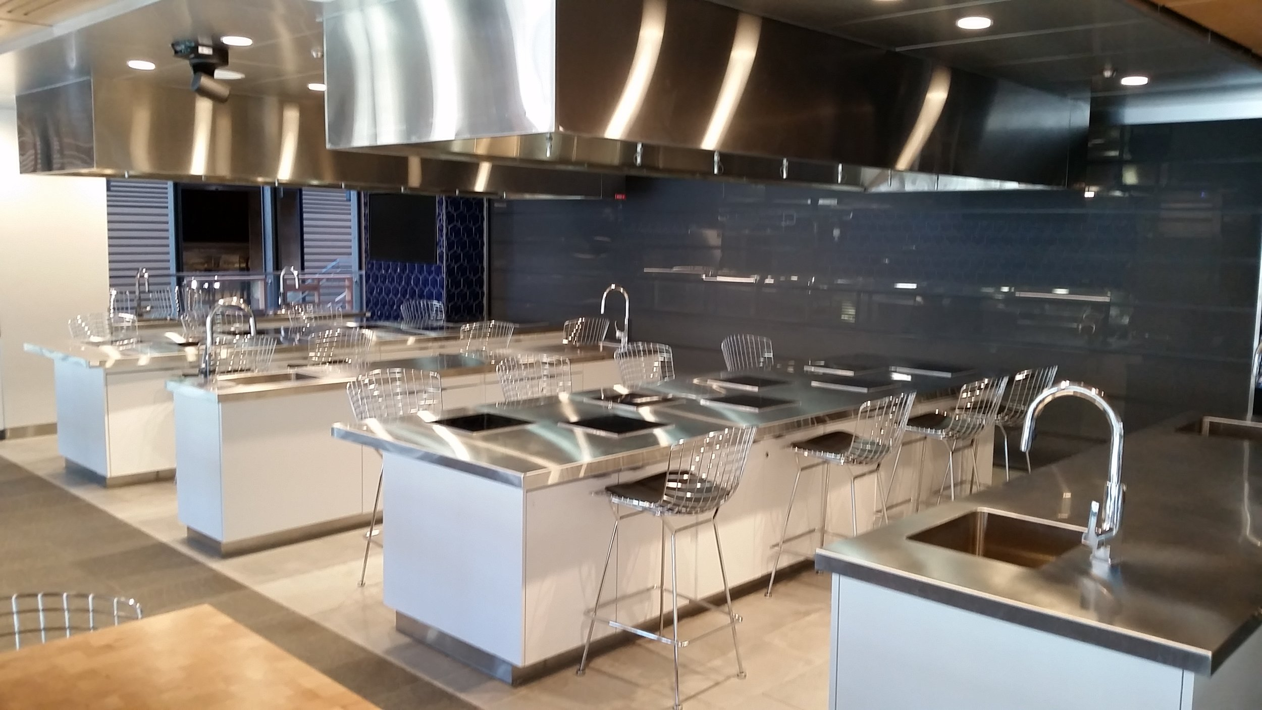 Duke University's teaching kitchen