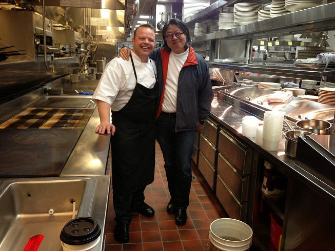 Chef Martin with Jimi at Le Diplomate
