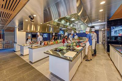 Duke University's teaching kitchen