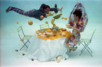 Mimi Oka and Doug Fitch,  underwater dining #1  from the series  experiments in dining