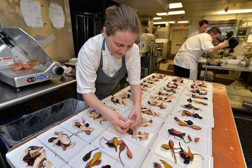 Chef April Bloomfield at The Spotted Pig   Photo: Dylan Rives