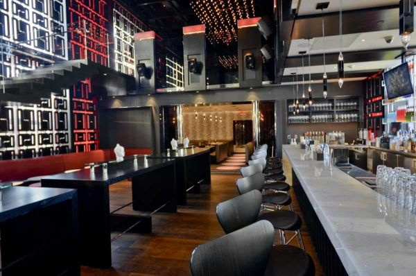 Bar and lounge at Monsoon Asian Kitchen and Lounge in Babylon from the Bohlsen Restaurant Group  Photo: Jim Lennon