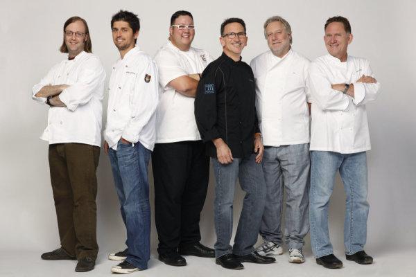 Chef Jonathan Waxman with fellow Top Chef Masters contestants