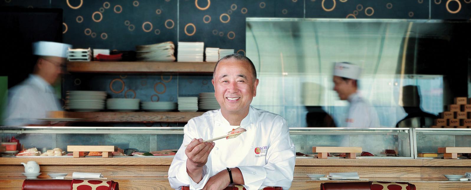 Chef Nobu Matsuhisa at Nobu InterContinental Hong Kong