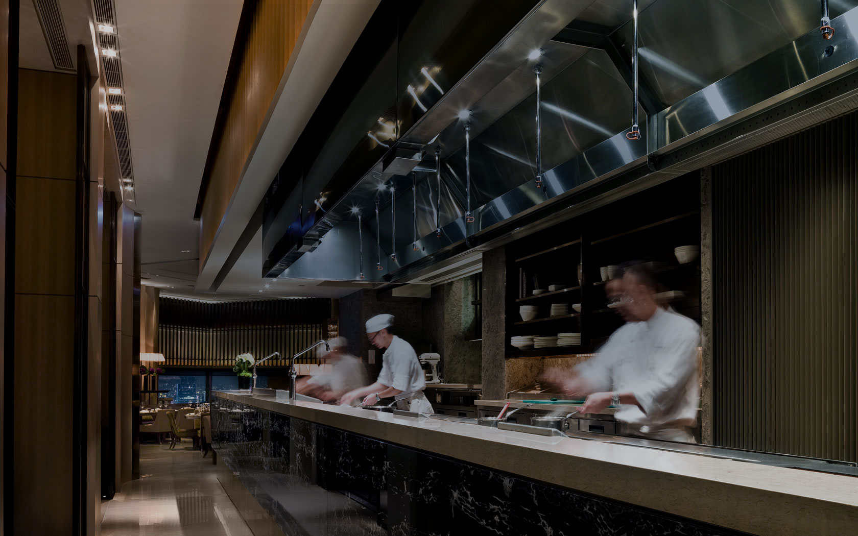 Café Gray Deluxe Hong Kong for Chef Gray Kunz and Swire Properties