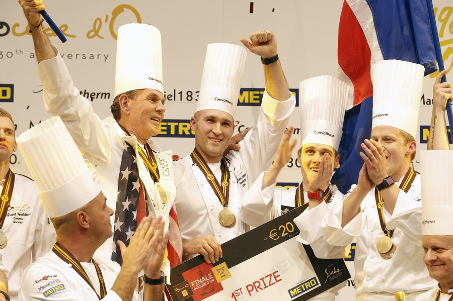Bocuse d'Or Team USA with Chefs Thomas Keller and Mathew Peters