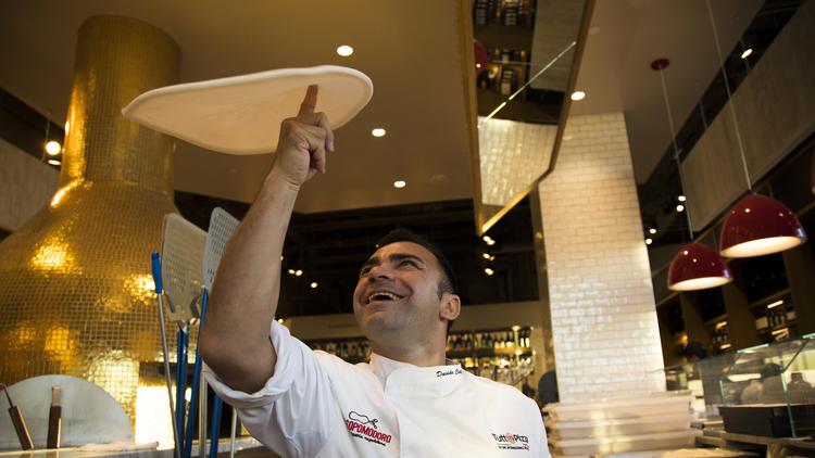 Eataly L.A., Chef David Civitiello at Rossopomodoro Pizzeria Napoletana   Photo: Gina Ferazzi