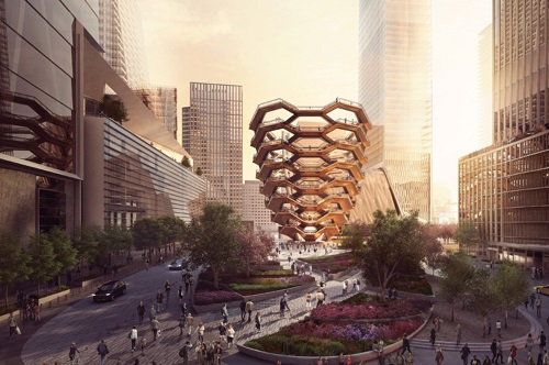 Rendering of the future site of Hudson Yards Grill, Hudson Yards, in NYC