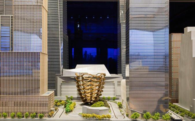 Model of Hudson Yards, the future site of Hudson Yards Grill in NYC   Photo: Sasha Maslov