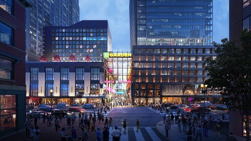 Rendering of The Hub on Causeway at TD Garden, formerly Boston Garden   Photo: Delaware North & Boston Properties