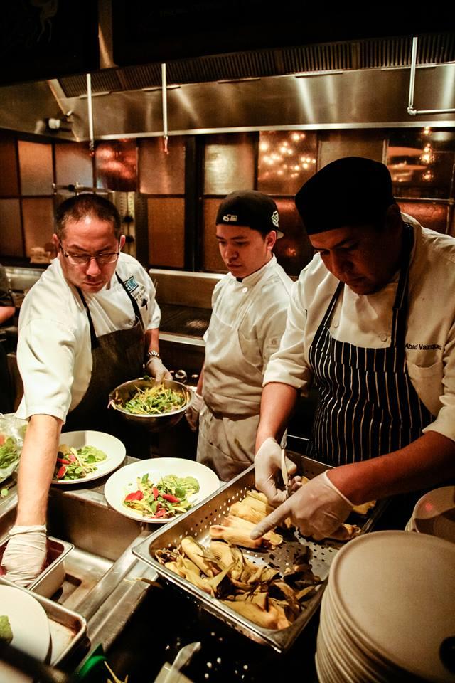 El Vez Chefs Darren Carbone and Abad Vazquez with team member