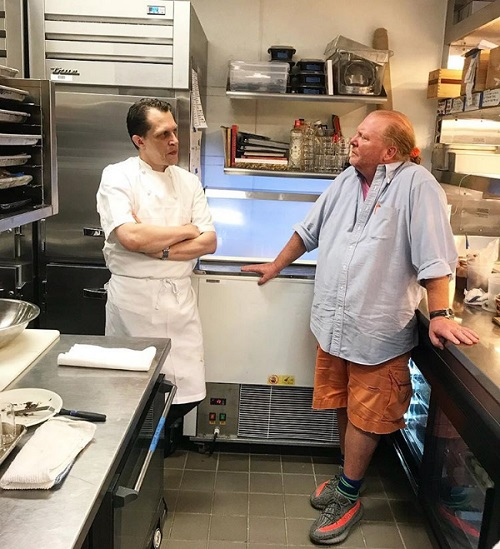 Consulting Pastry Chef Michael Laiskonis and Chef Mario Batali at La Sirena, The Maritime Hotel