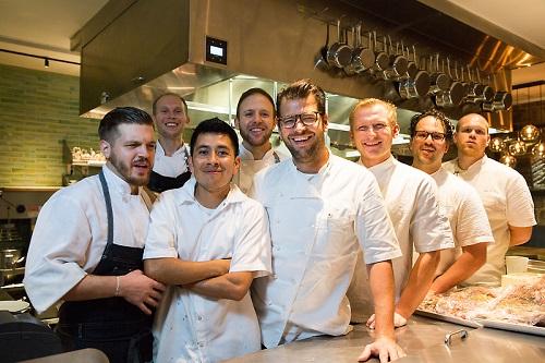 Chef Nicholas Stefanelli and team at Masseria   Photo: Antoinette Bruno