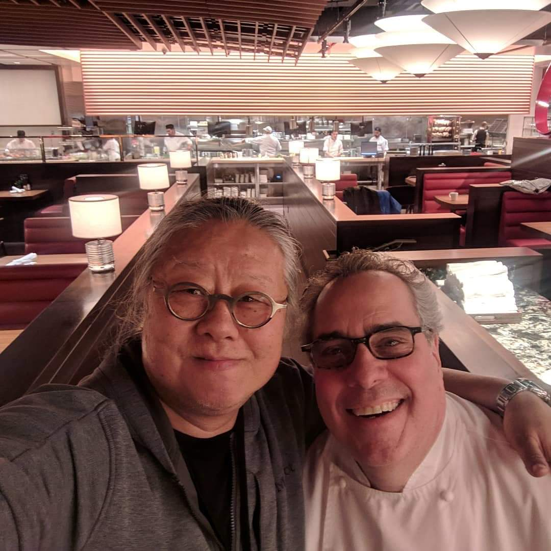 Jimi Yui and Chef Michael Lomanaco at Hudson Yards Grill