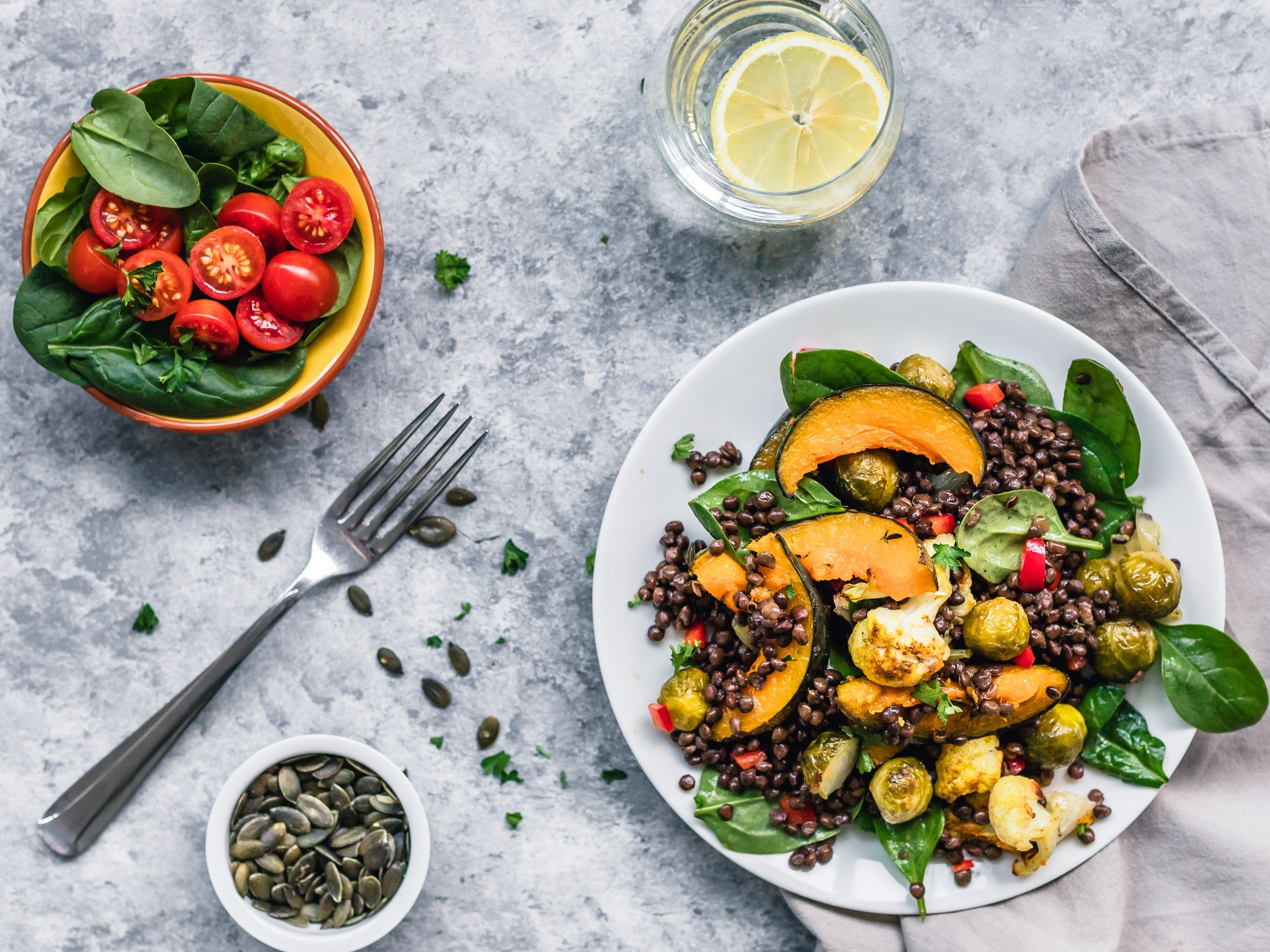 Lentils are an excellent source of plant-based protein. They are versatile and work as a main dish or side, in soups, and sprinkled on salads.