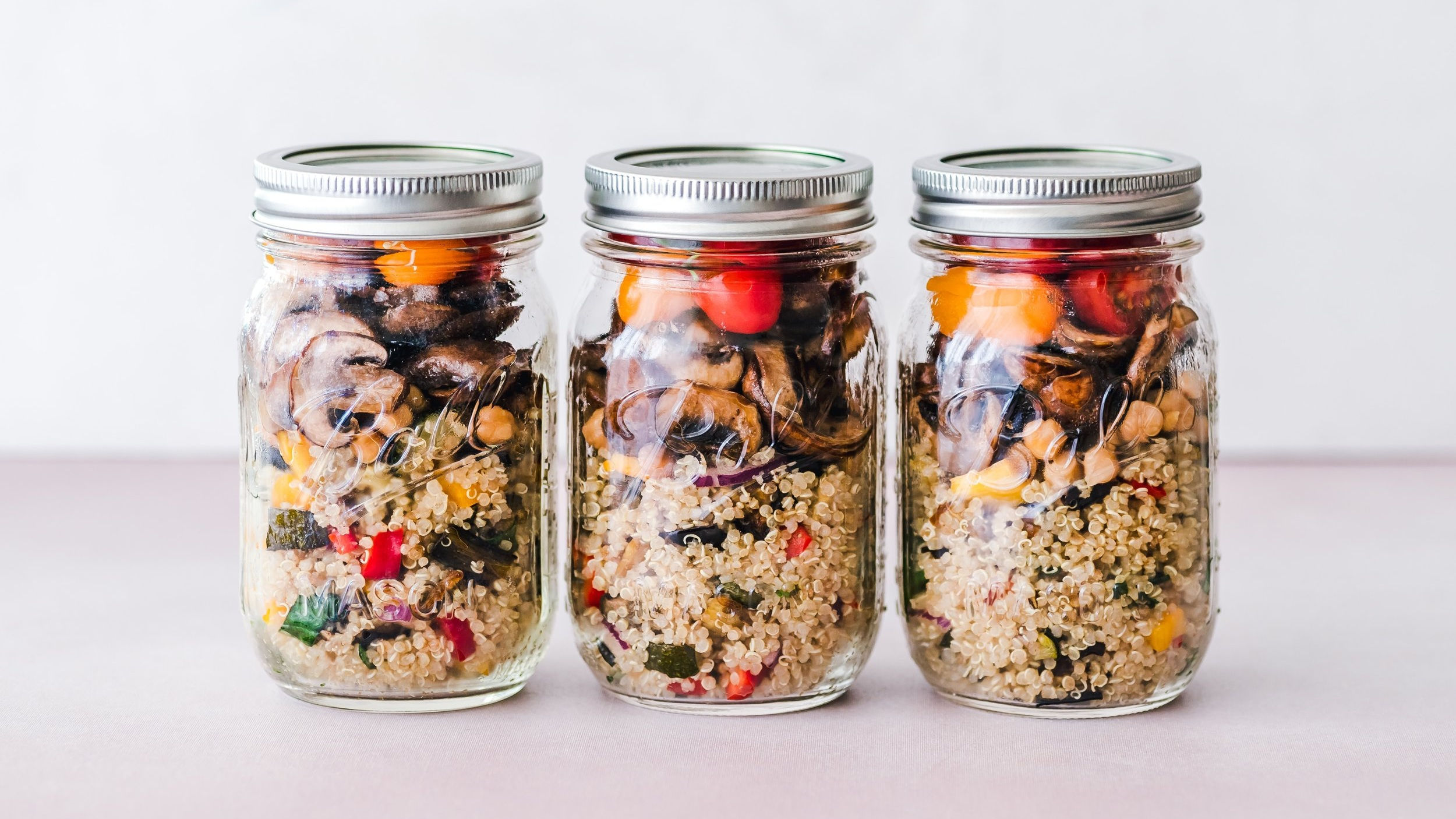 Quinoa is a versatile and portable grain. It holds up well for packed lunches and picnics. Make a batch and enjoy it throughout the week for breakfast, lunch, and dinner.