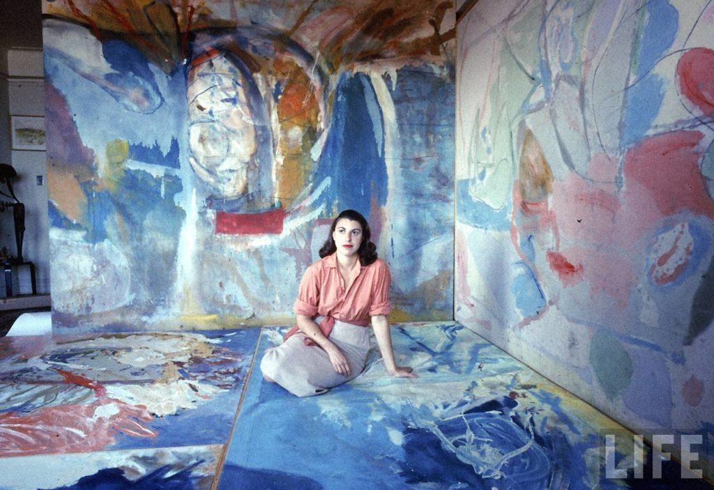 Helen Frankenthaler in her studio