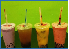Two Large Bubble Teas  at T-Cups Cafe