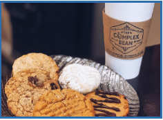 Coffee and a Cookie at The Complex Bean