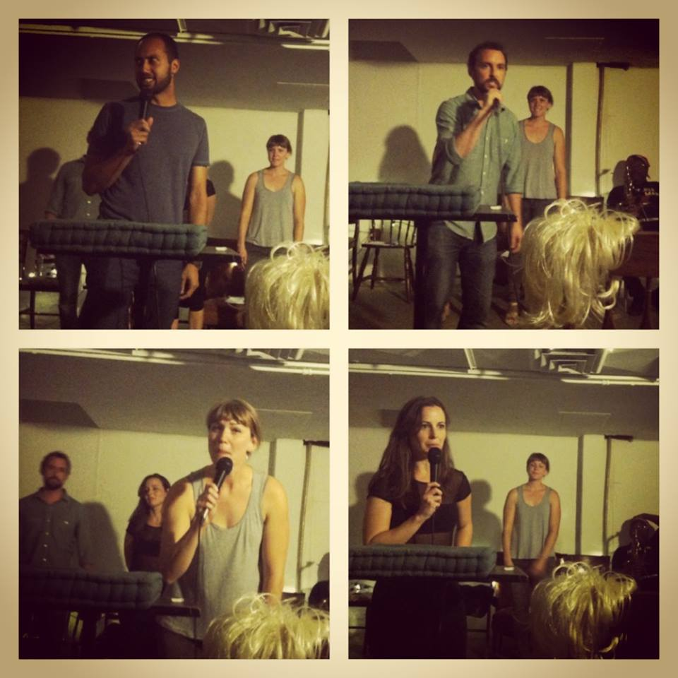 Performance at the  Back Alley Theater , an underground performance space that I helped curate.