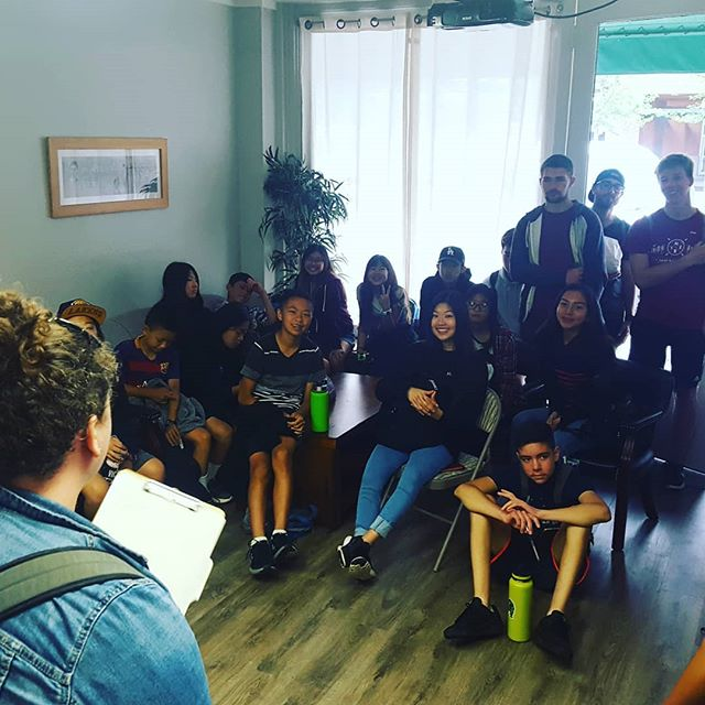 Working alongside our YWAM Mission Adventures Program today doing evangelism with a high school group from LA.