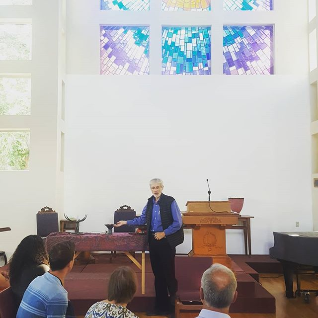 Engaging worldview discussion today at the Unitarian Universalist church for our Temple Talk.