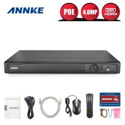 ANNKE PRO NVR 8-16 kanaler   Med superb 6 MP realtid visning, inspelning samt playback och integrerad videoanalysmjukvara, H264+ med upp till 70% reducerad lagringstid erbjuder denna NVR ett kamerasystem av yttersta klass.