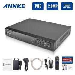 ANNKE NVR 4 kanaler    Med superb 6 MP realtid visning, inspelning samt playback, APP samt H264+ med upp till 70% reducerad lagringstid erbjuder denna NVR ett kamerasystem med bildkvalitet utöver det vanliga för det lilla kontoret