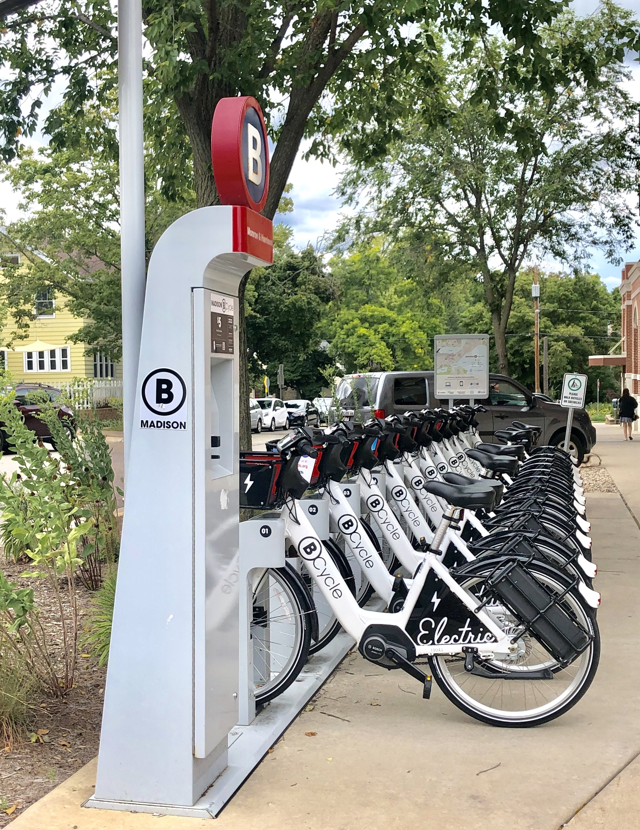 Hive is conveniently located just one block off the bike path, and we also have a Bcycle station right across the street.