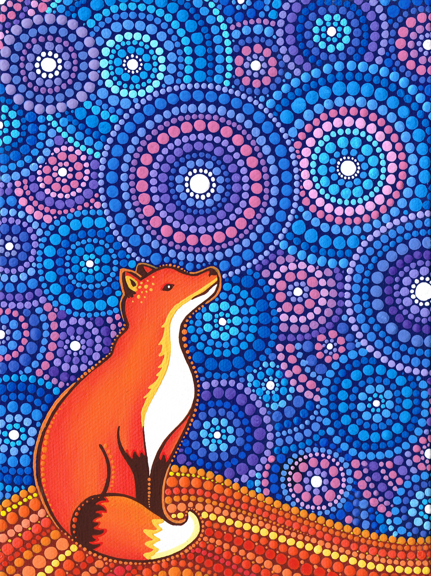 Star Gazing Fox