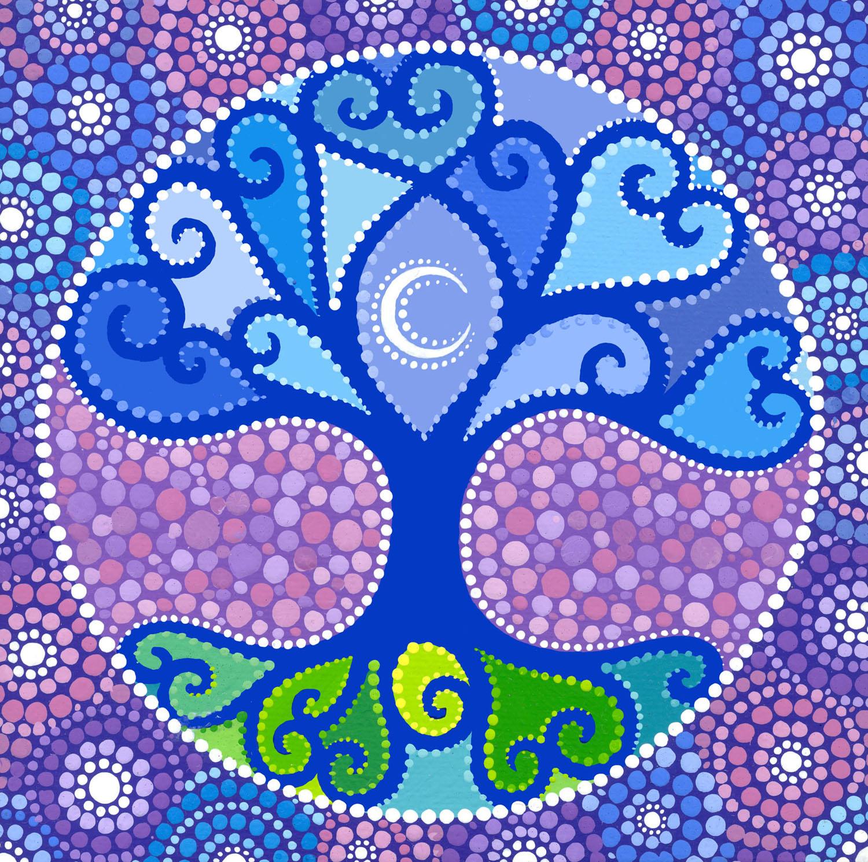 Moon Tree Mandala