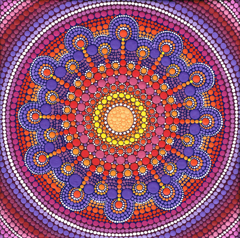 Warm Tone Jewel Drop Mandala