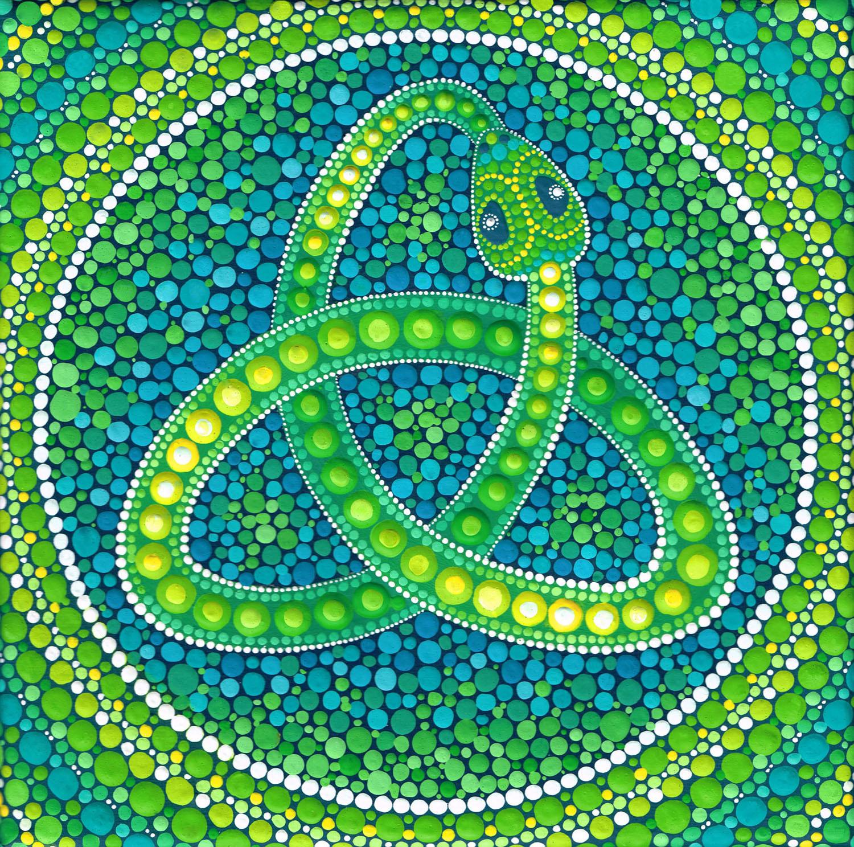 Green Ouroboros Celtic Snake